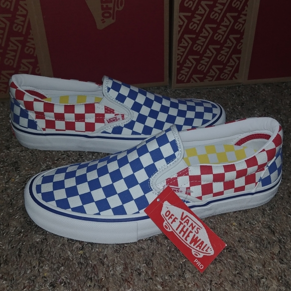 Vans Multicolored Checkered Shoes